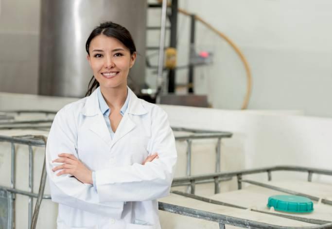 Woman at Chemical Plant   Sunrise Plastic